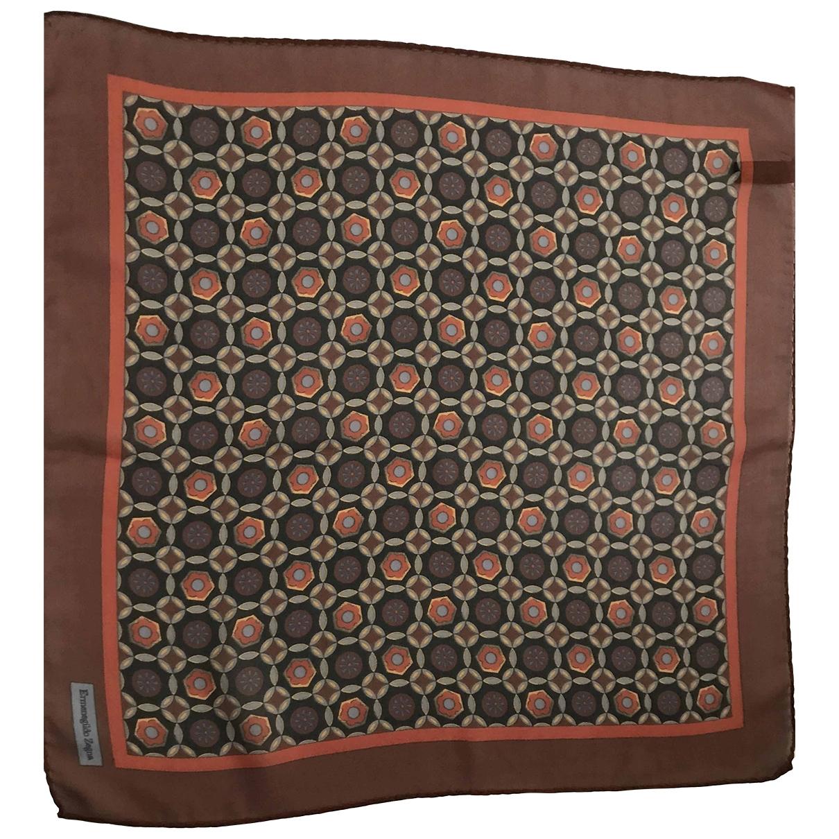 Ermenegildo Zegna \N Brown Silk scarf & pocket squares for Men \N