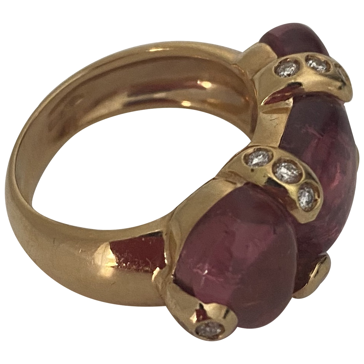 Non Signe / Unsigned \N Ring in Gelbgold