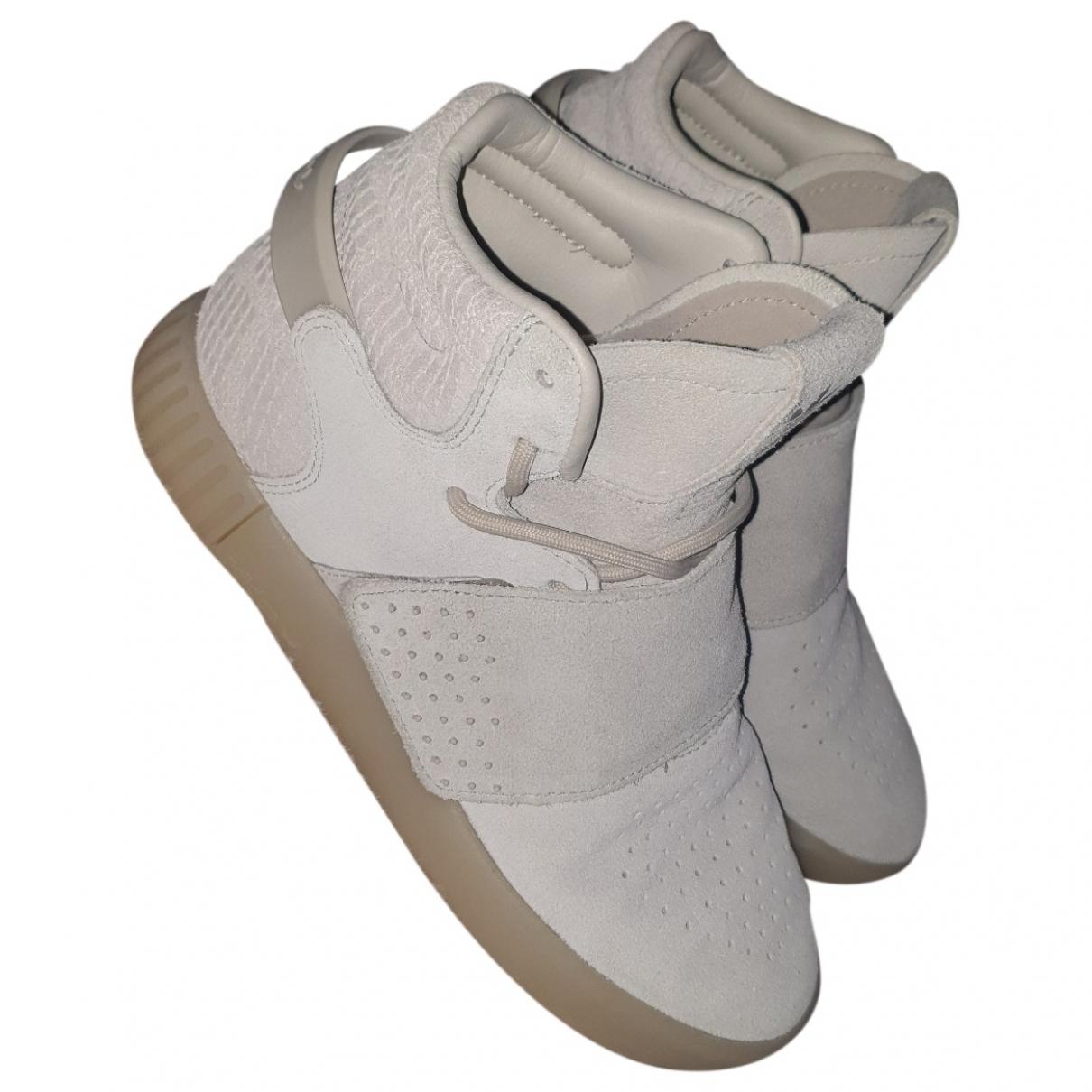 Adidas - Baskets Tubular pour femme en cuir - blanc
