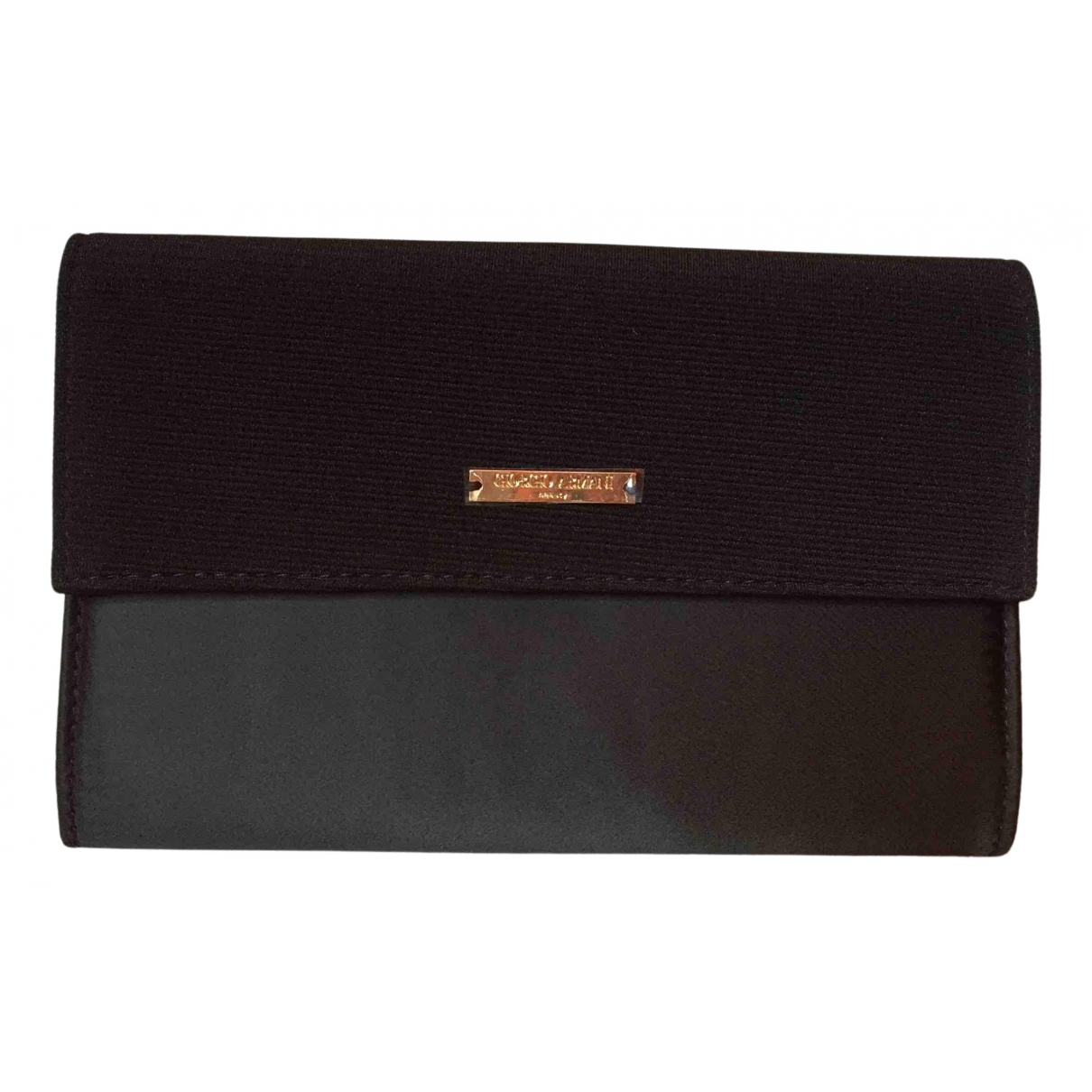 Giorgio Armani - Portefeuille   pour femme en toile - noir