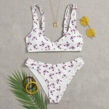 Bañador bikini de canale con estampado de mariposa