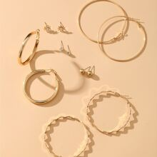 6 Paar Ohrringe mit Strass