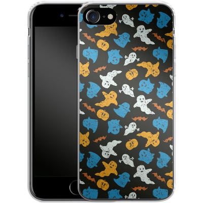Apple iPhone 7 Silikon Handyhuelle - Ghost Repeat von caseable Designs