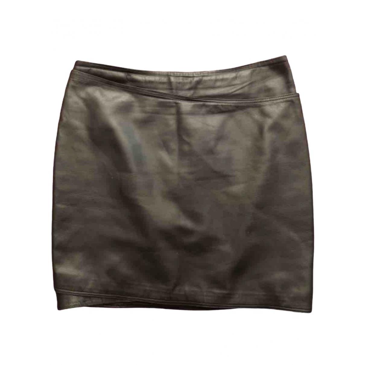 Mini falda de Cuero Gianni Versace