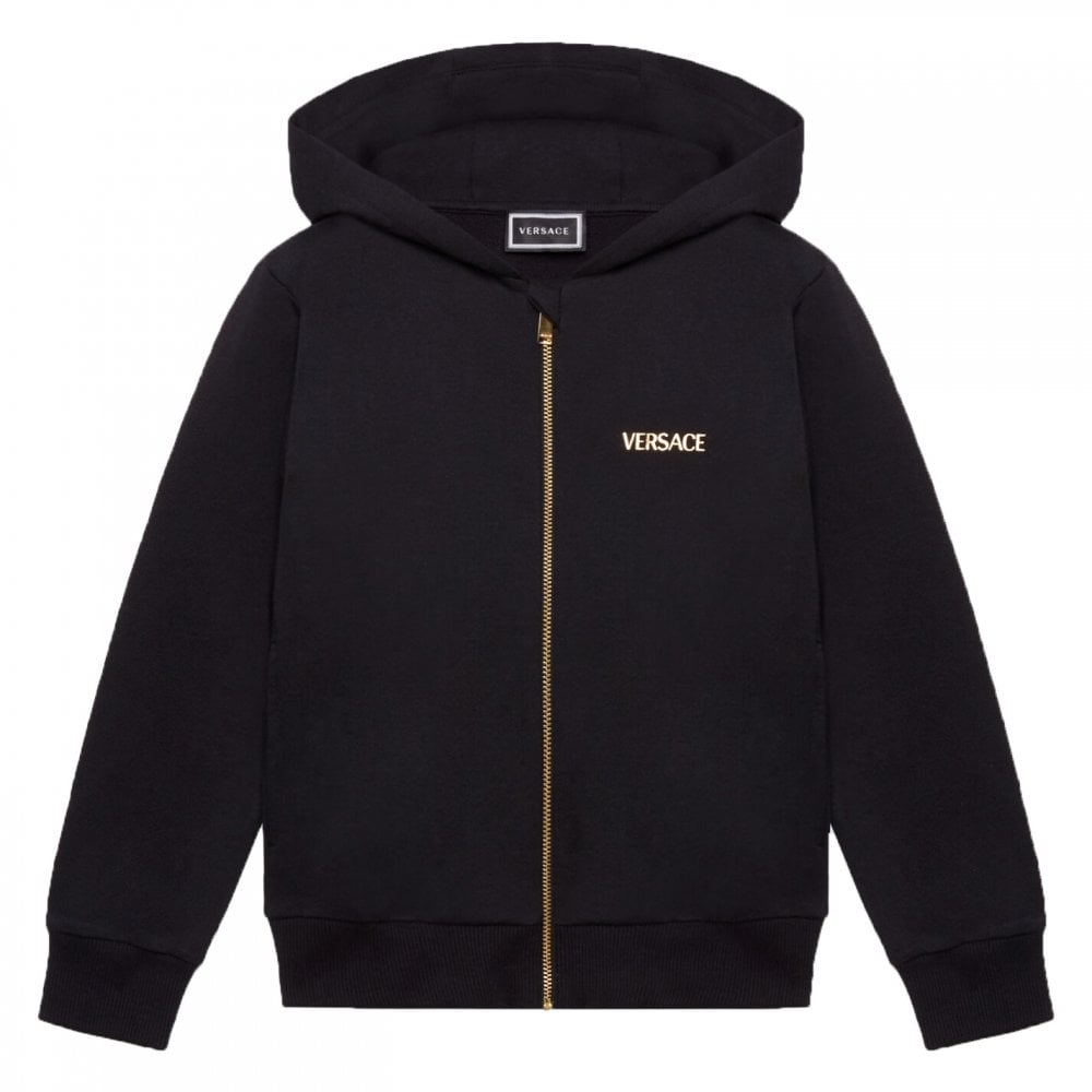 Versace Zip Hoodie Colour: BLACK, Size: 10 YEARS