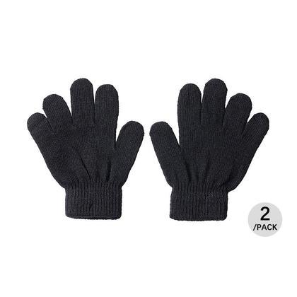 Winter Magic Gloves for Kids, Black, 2 Pairs/pack - LIVINGbasics™