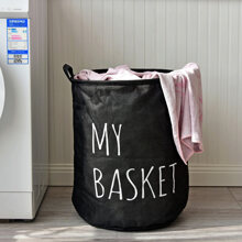Slogan Graphic Dirty Clothes Basket
