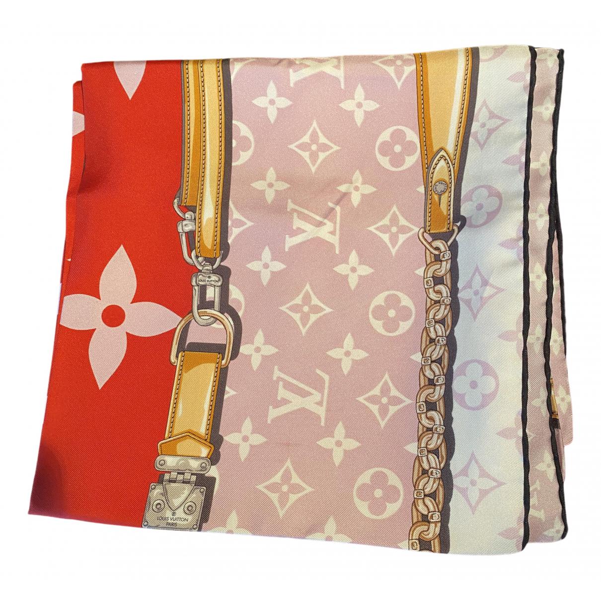 Louis Vuitton \N Beige Silk Silk handkerchief for Women \N