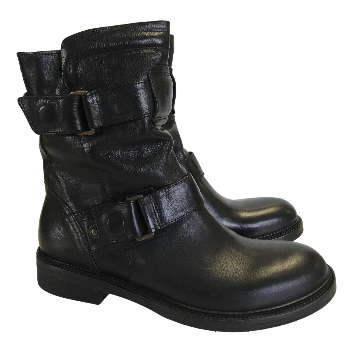 Matchless - Bottes   pour femme en cuir - noir