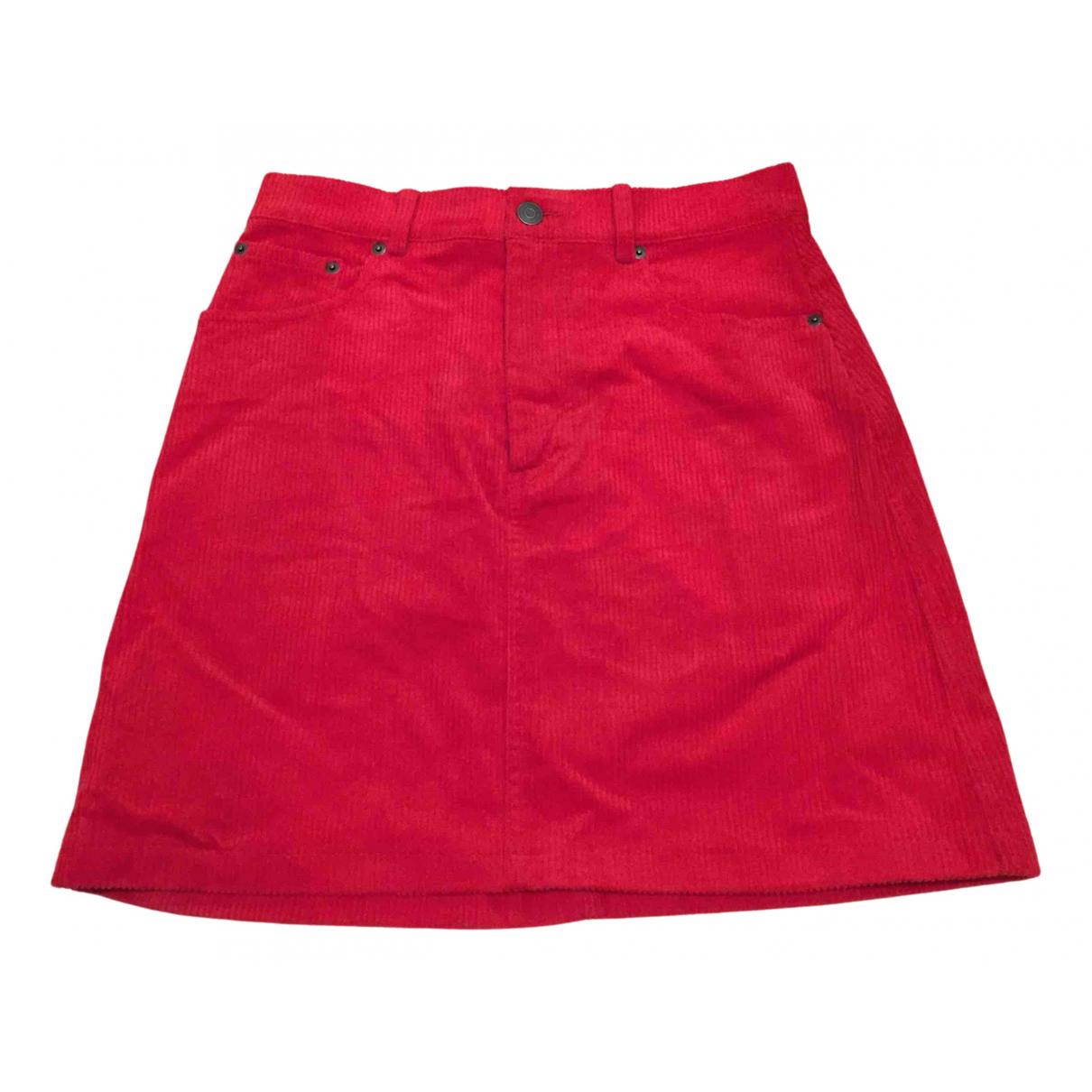 & Other Stories - Jupe   pour femme en coton - rouge