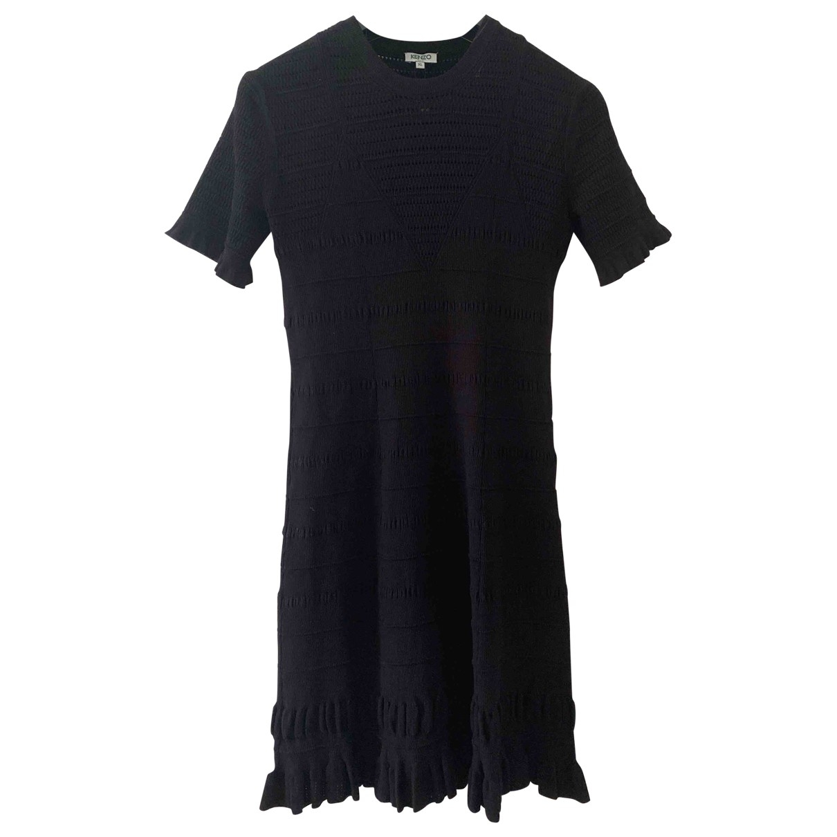 Kenzo - Robe   pour femme en coton - elasthane - noir