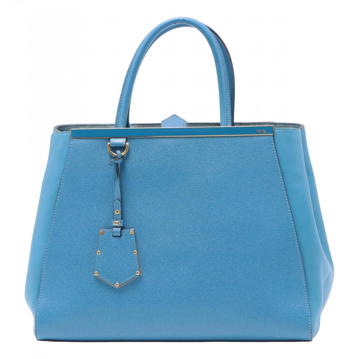 Fendi 2Jours Handtasche in  Blau Leder