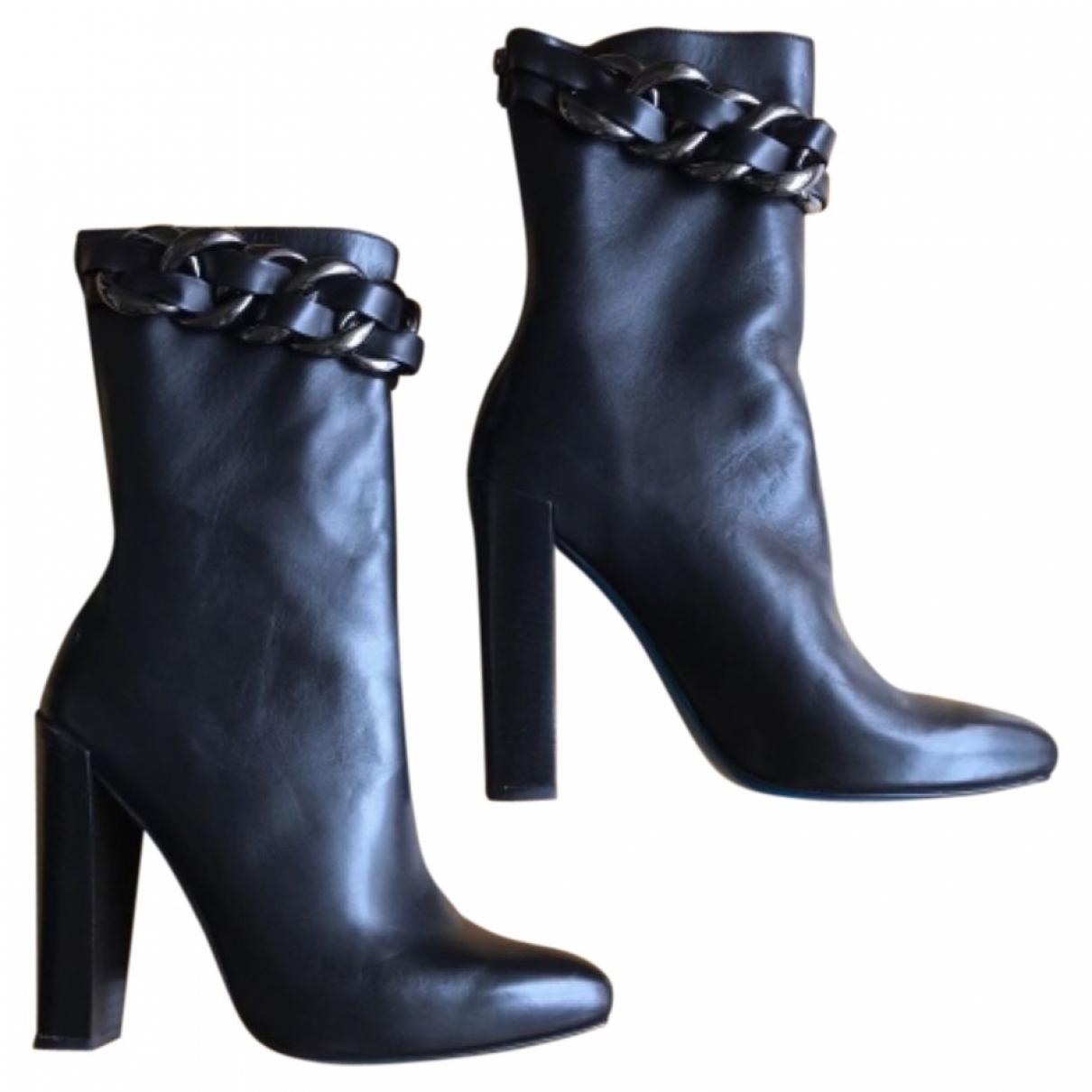 Guido Pasquali - Boots   pour femme en cuir - noir
