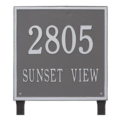 2120PS Personalized Square Plaque - Estate - Lawn - 2 line in