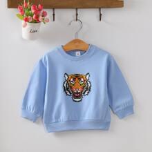 Sweatshirt mit Tiger Muster