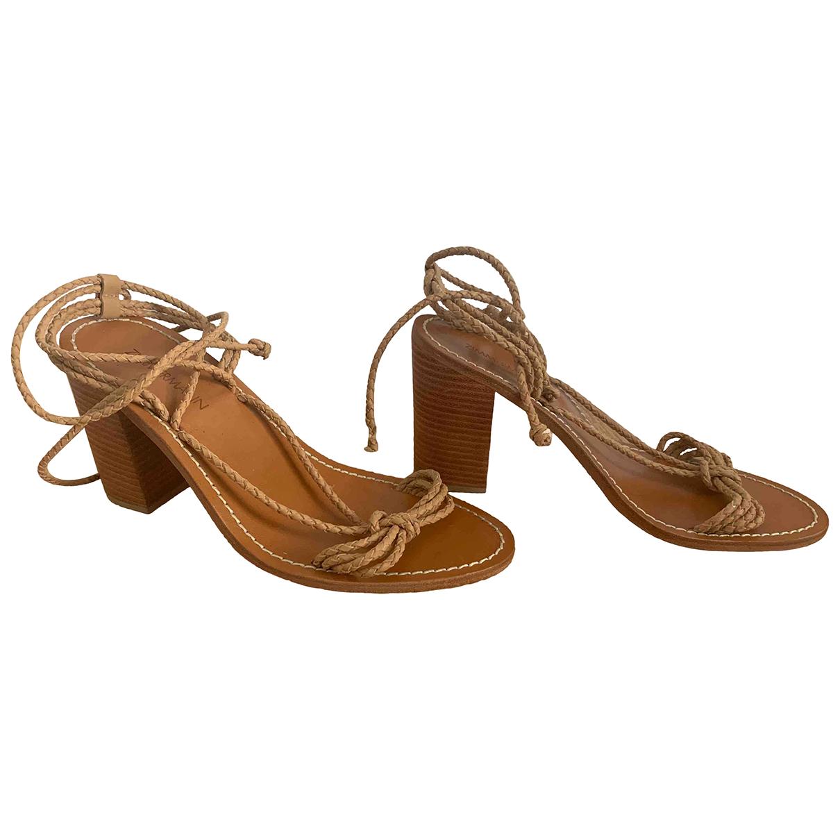 Zimmermann \N Brown Leather Sandals for Women 39 EU
