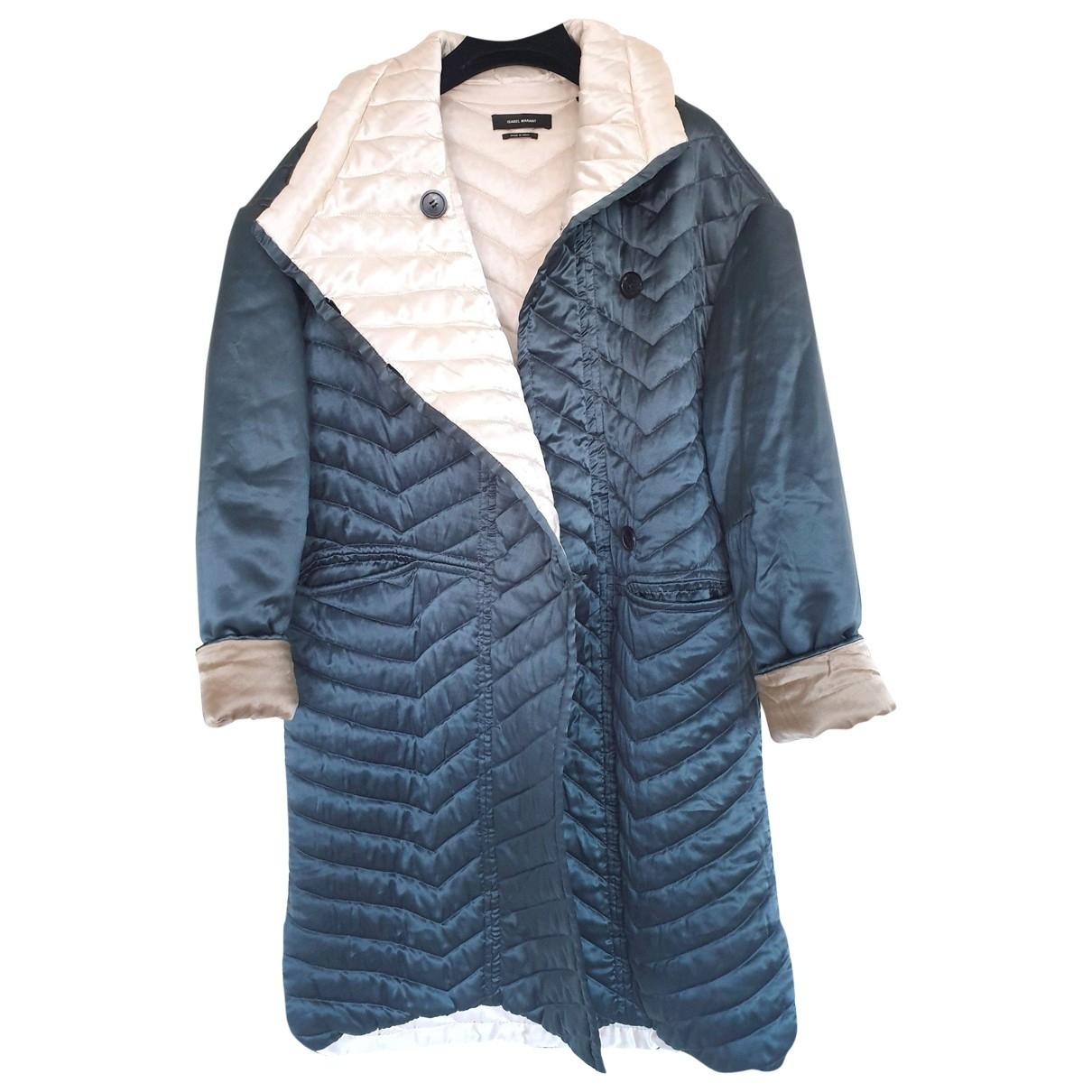 Isabel Marant \N Green Silk coat for Women 34 FR