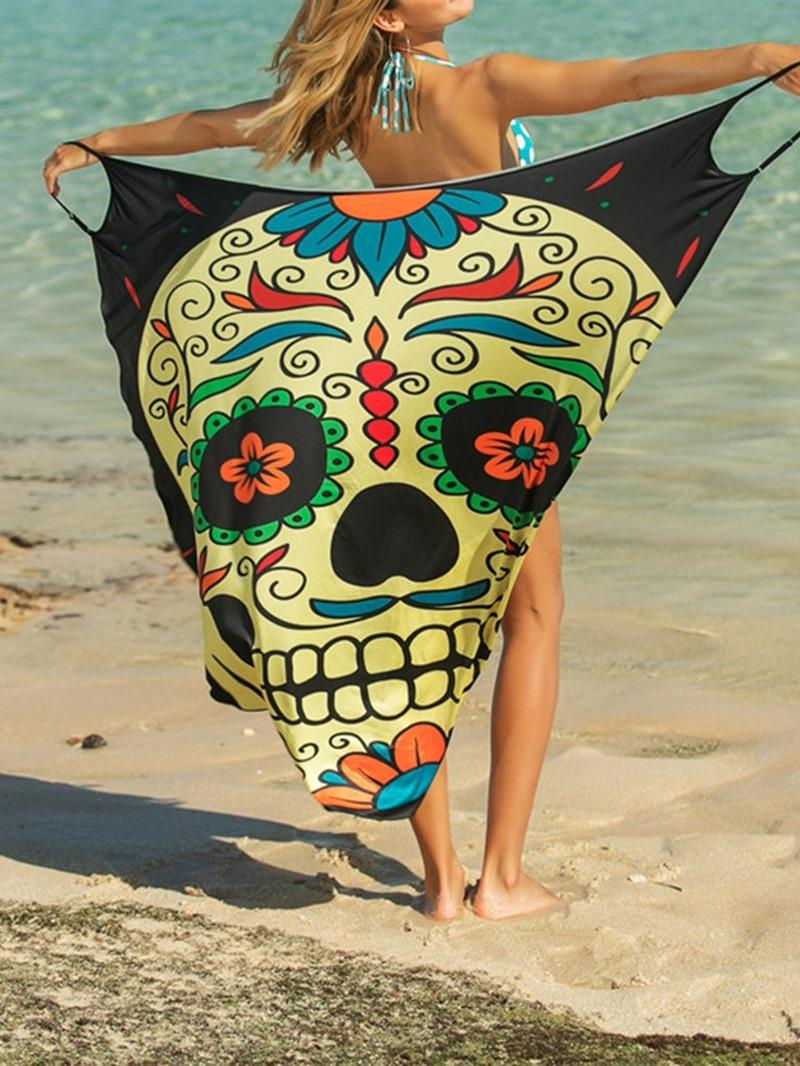 Ericdress Sexy Print Mid-Calf Dress Beach Dresses