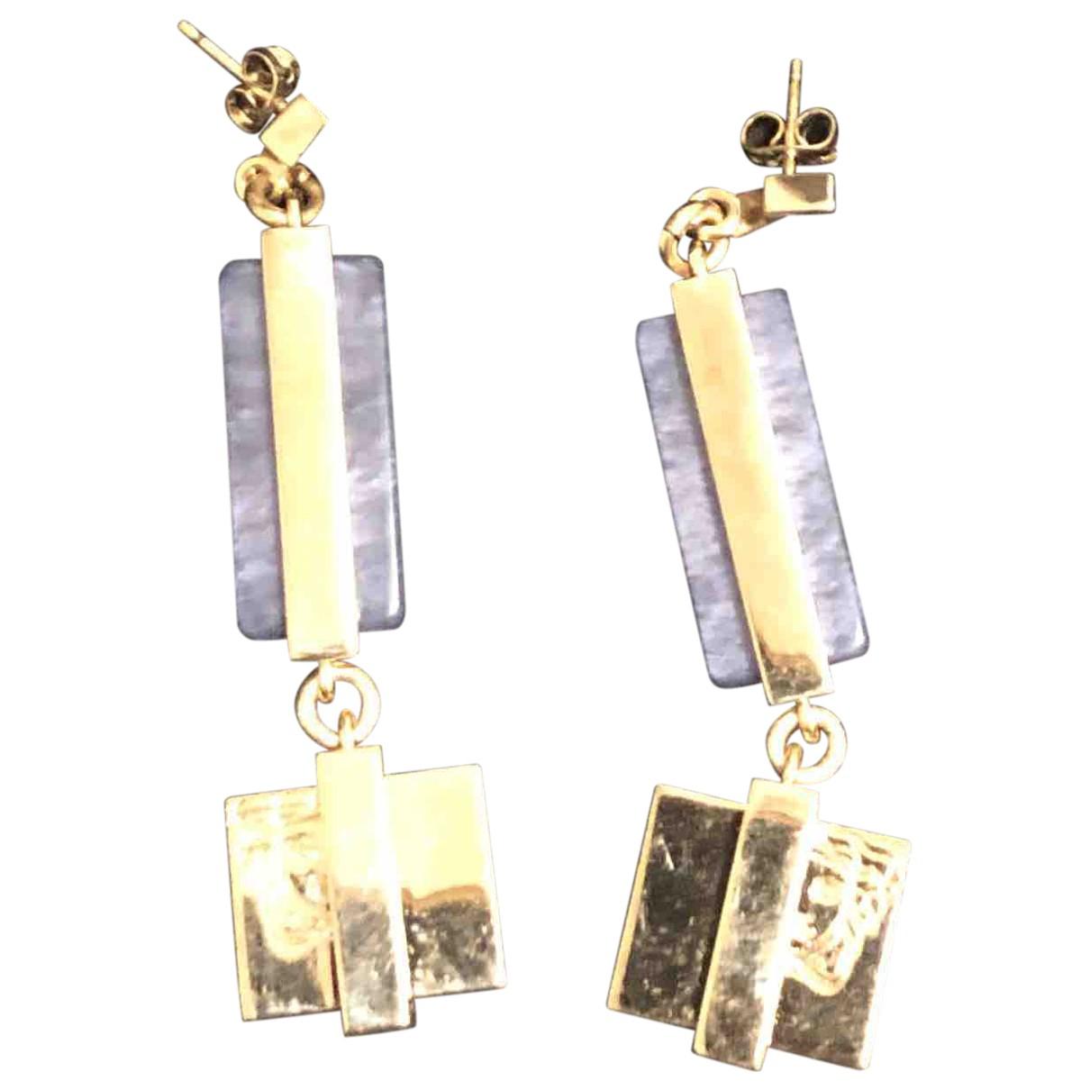 Versace Medusa Gold Metal Earrings for Women N