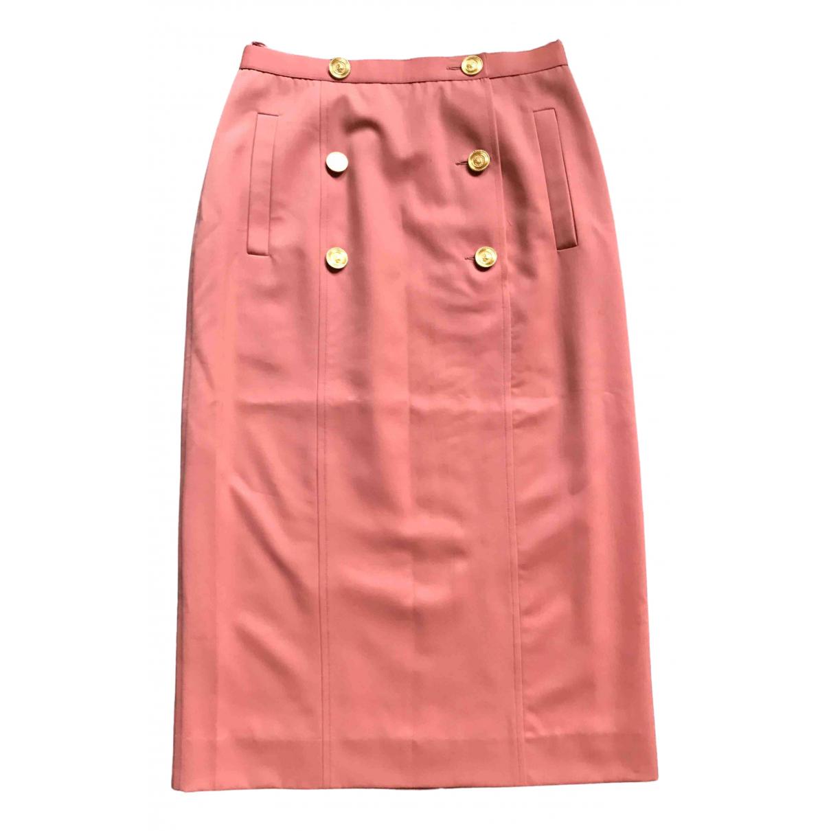 Chanel N Pink Wool skirt for Women 36 FR