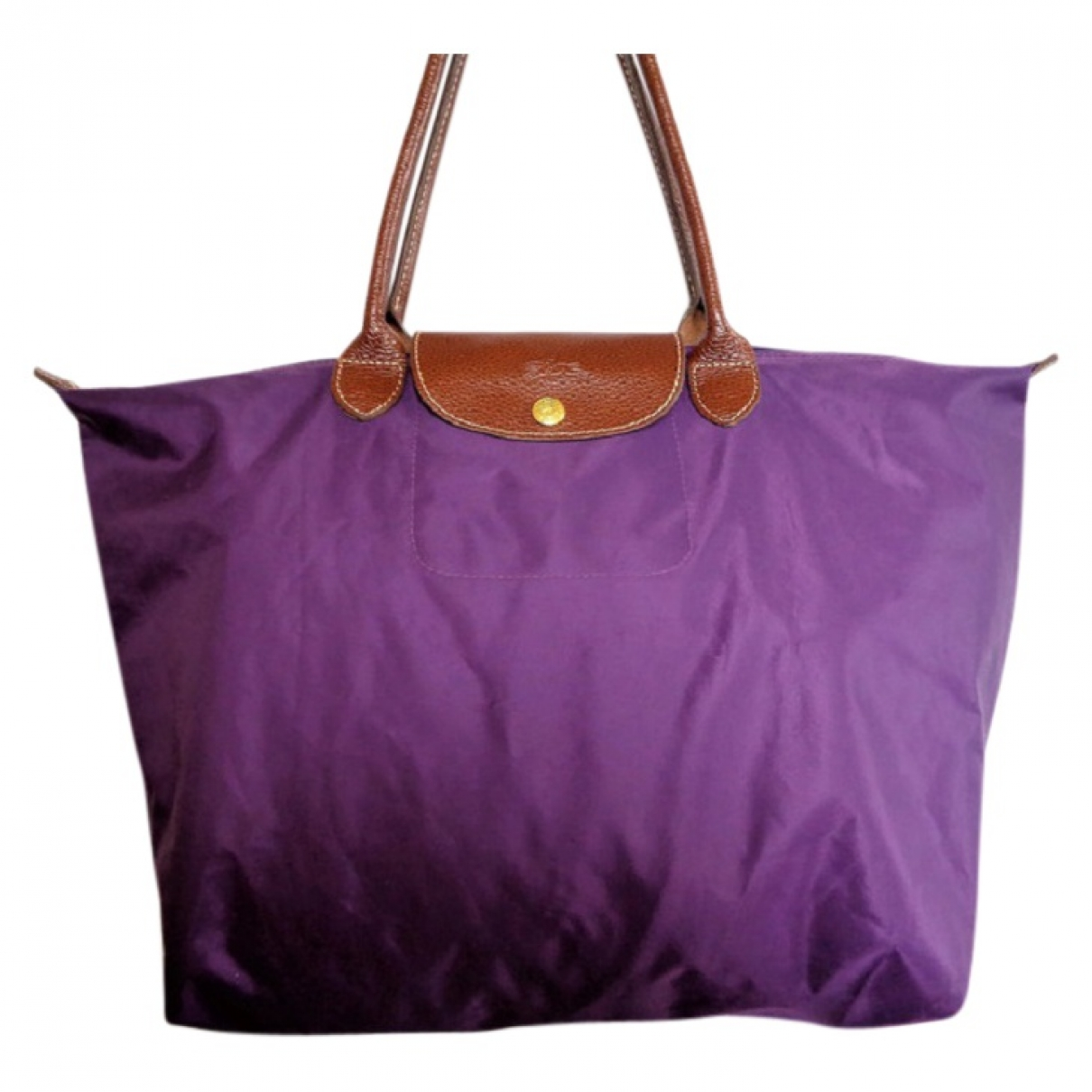 Longchamp Pliage  Handtasche in  Lila Polyester