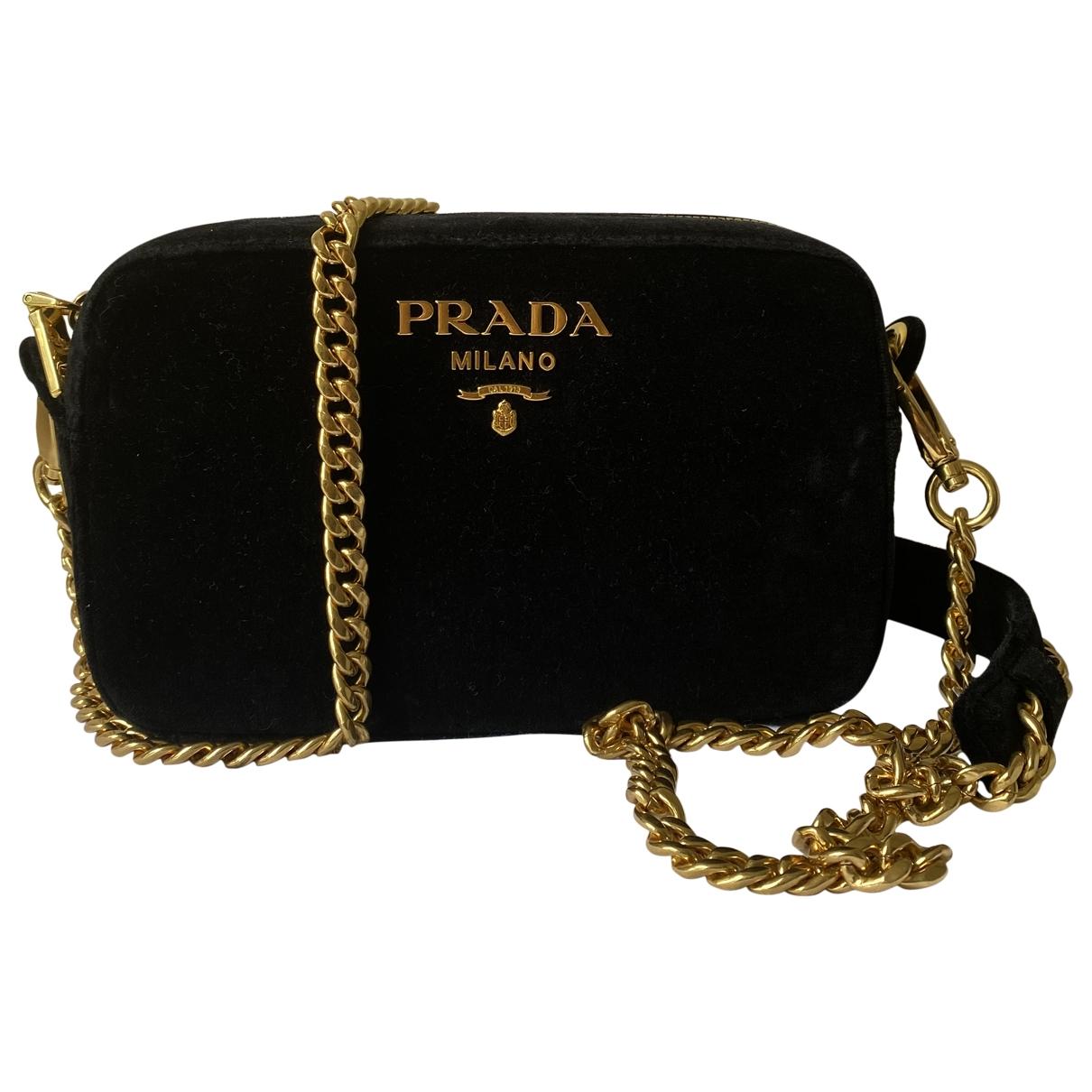 Prada \N Handtasche in  Schwarz Veloursleder