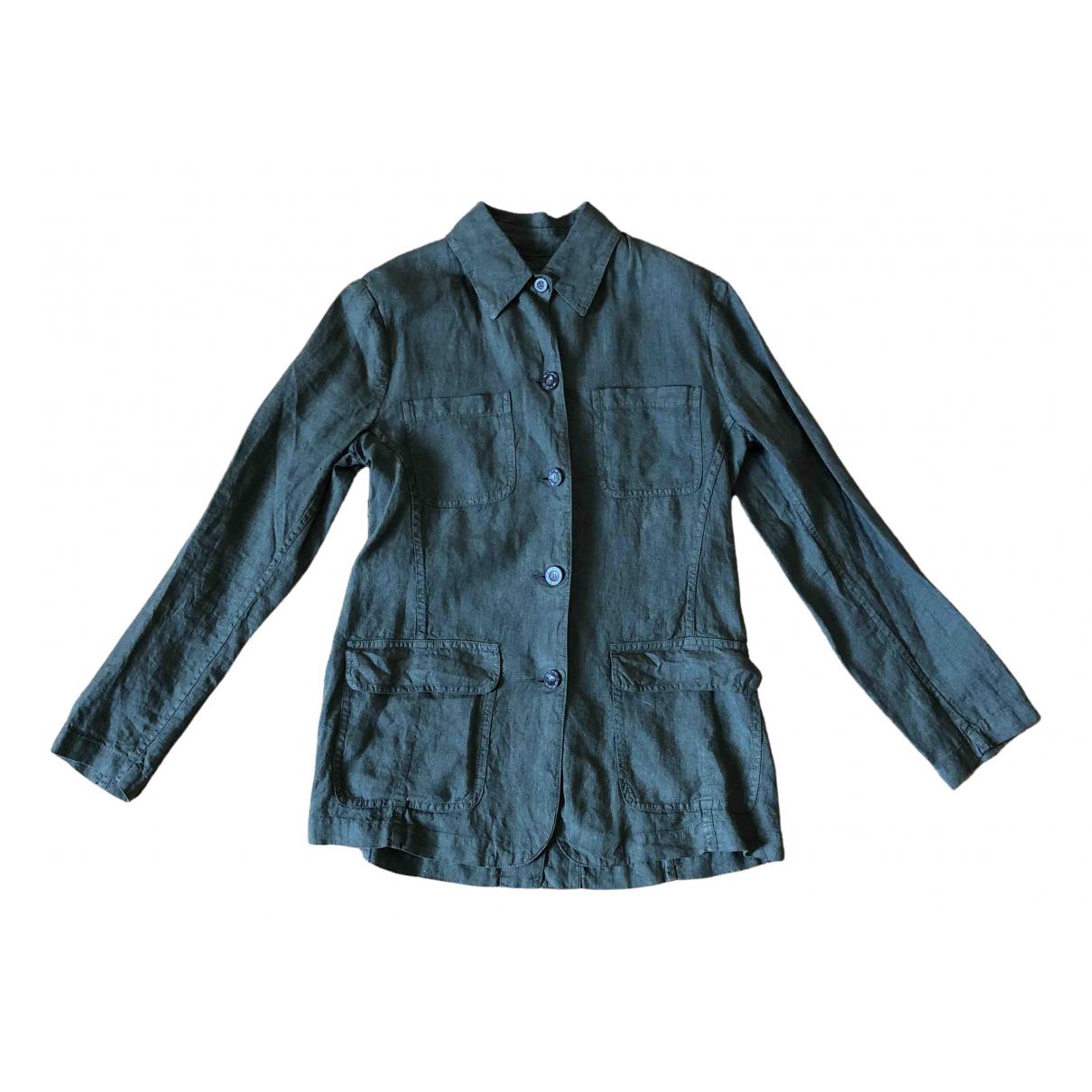 Etro N Green Linen jacket for Women 42 IT