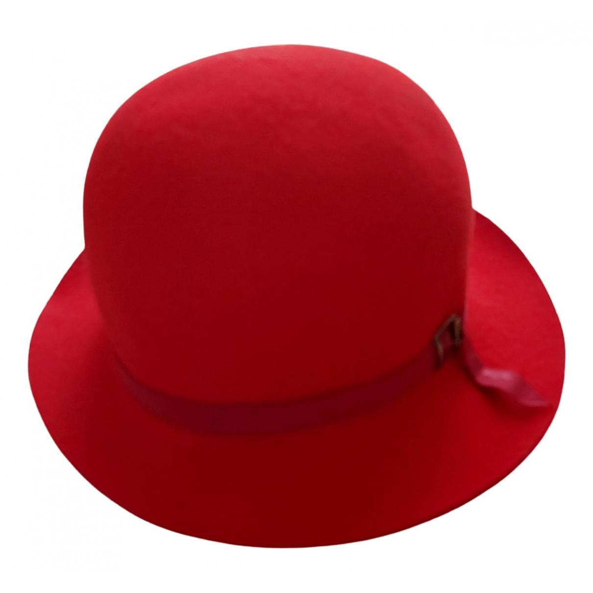Borsalino \N Red Wool hat for Women 54 cm