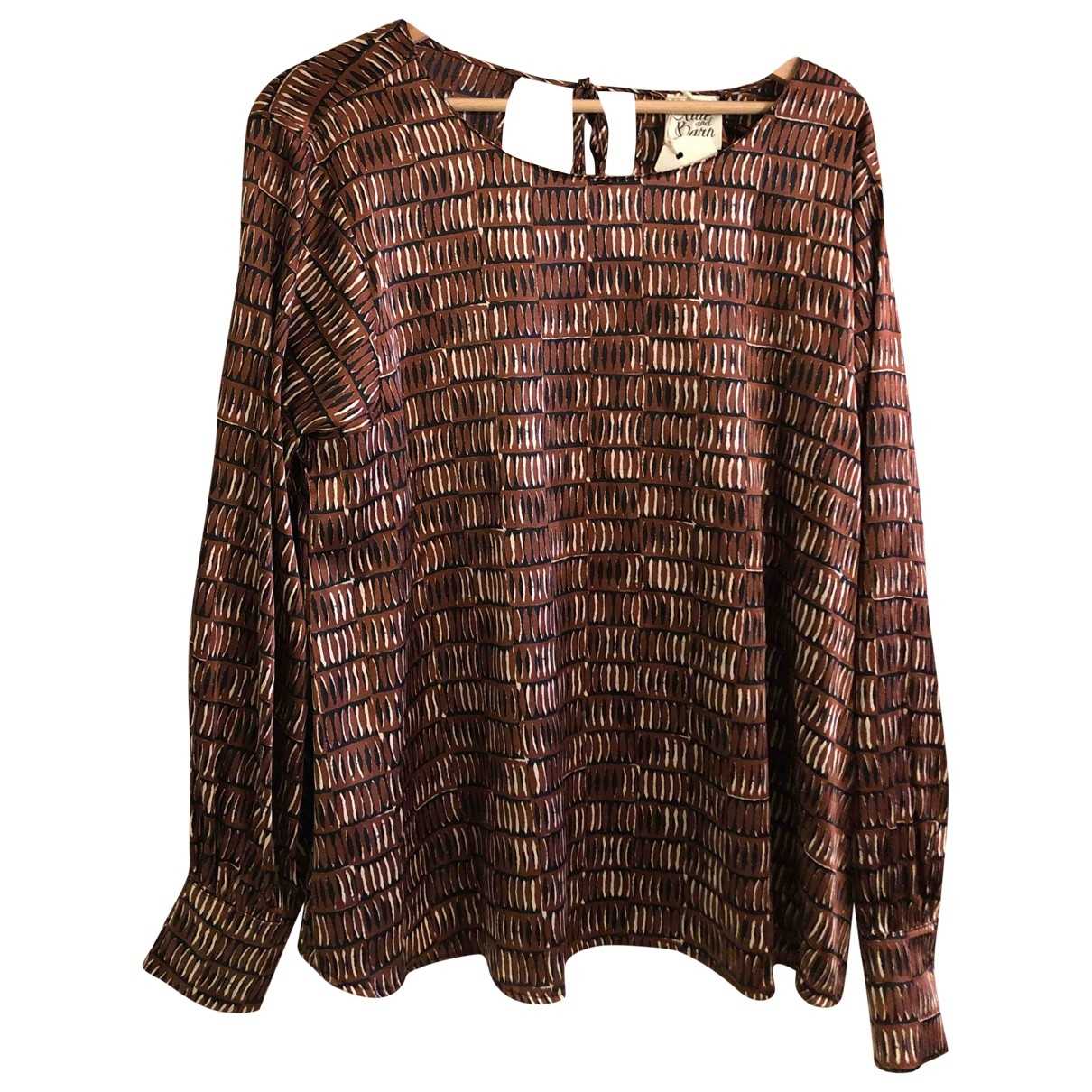 Attic And Barn \N Brown Silk  top for Women 44 IT