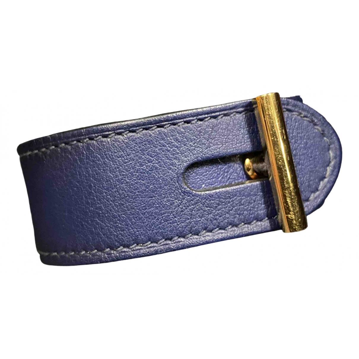 Hermes - Bracelet   pour femme en cuir - bleu