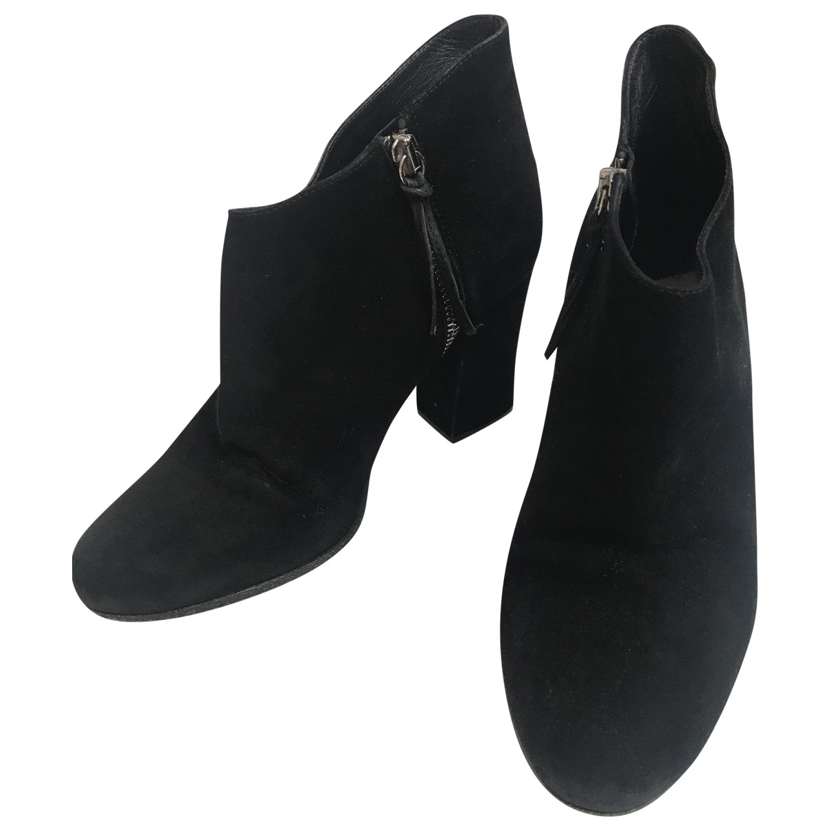 Miu Miu N Black Velvet Ankle boots for Women 35 EU