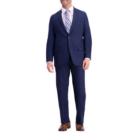 Haggar Active Series Classic Fit Suit Separate Classic Fit Stretch Suit Jacket, 46 Regular, Blue