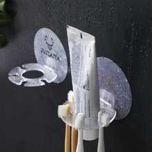 1pc Mounted Toothbrush Holder Rack
