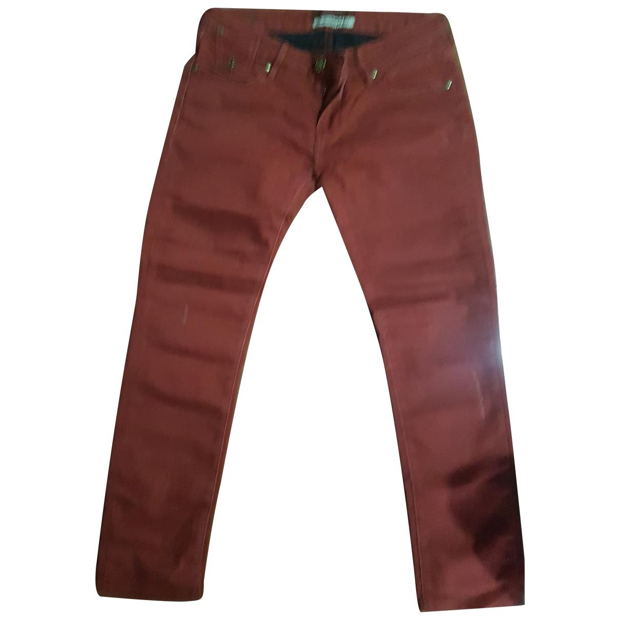 Maison Scotch \N Burgundy Cotton - elasthane Jeans for Women 27 US