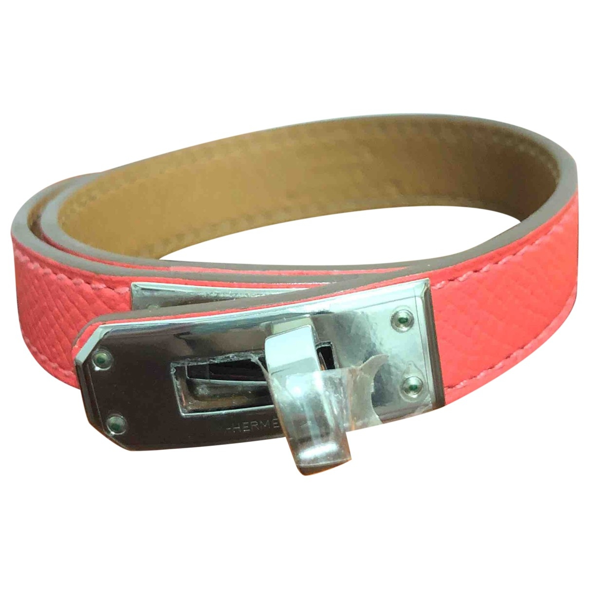 Hermes Kelly Double Tour Armband in  Bordeauxrot Leder