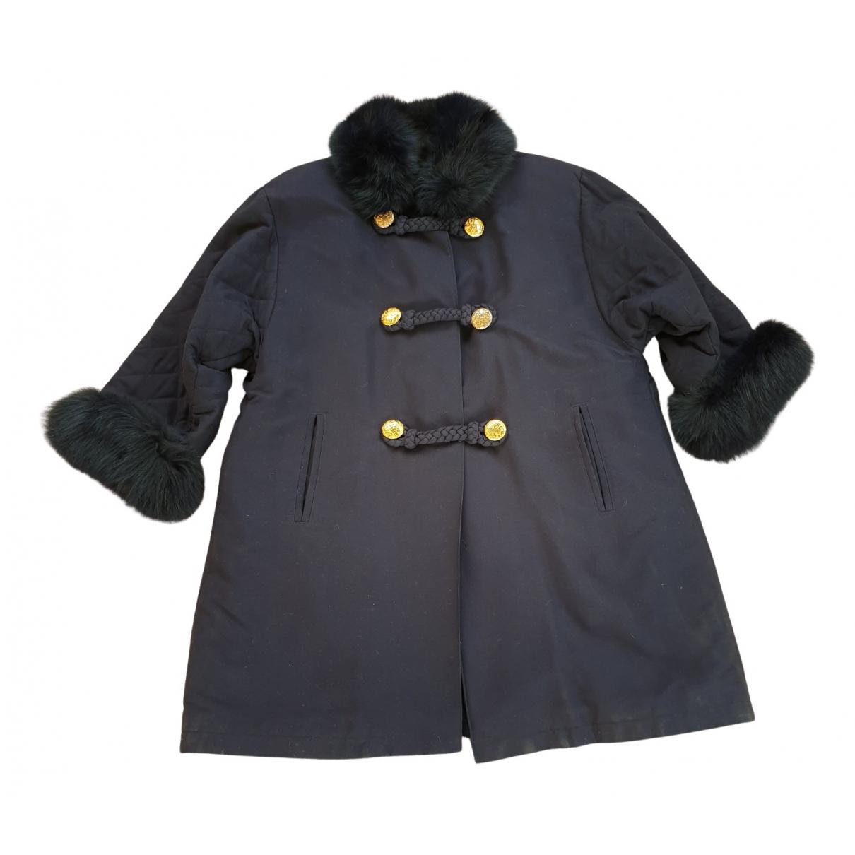 - Manteau   pour femme en coton - bleu