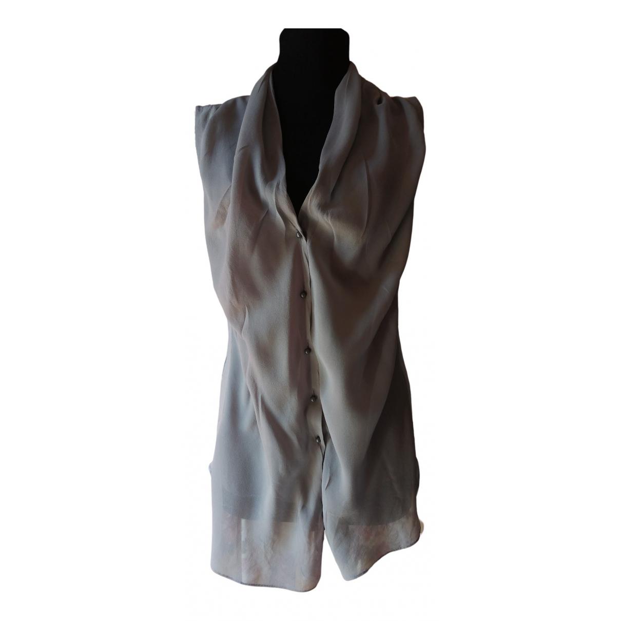 Dorothee Schumacher - Top   pour femme en soie - gris