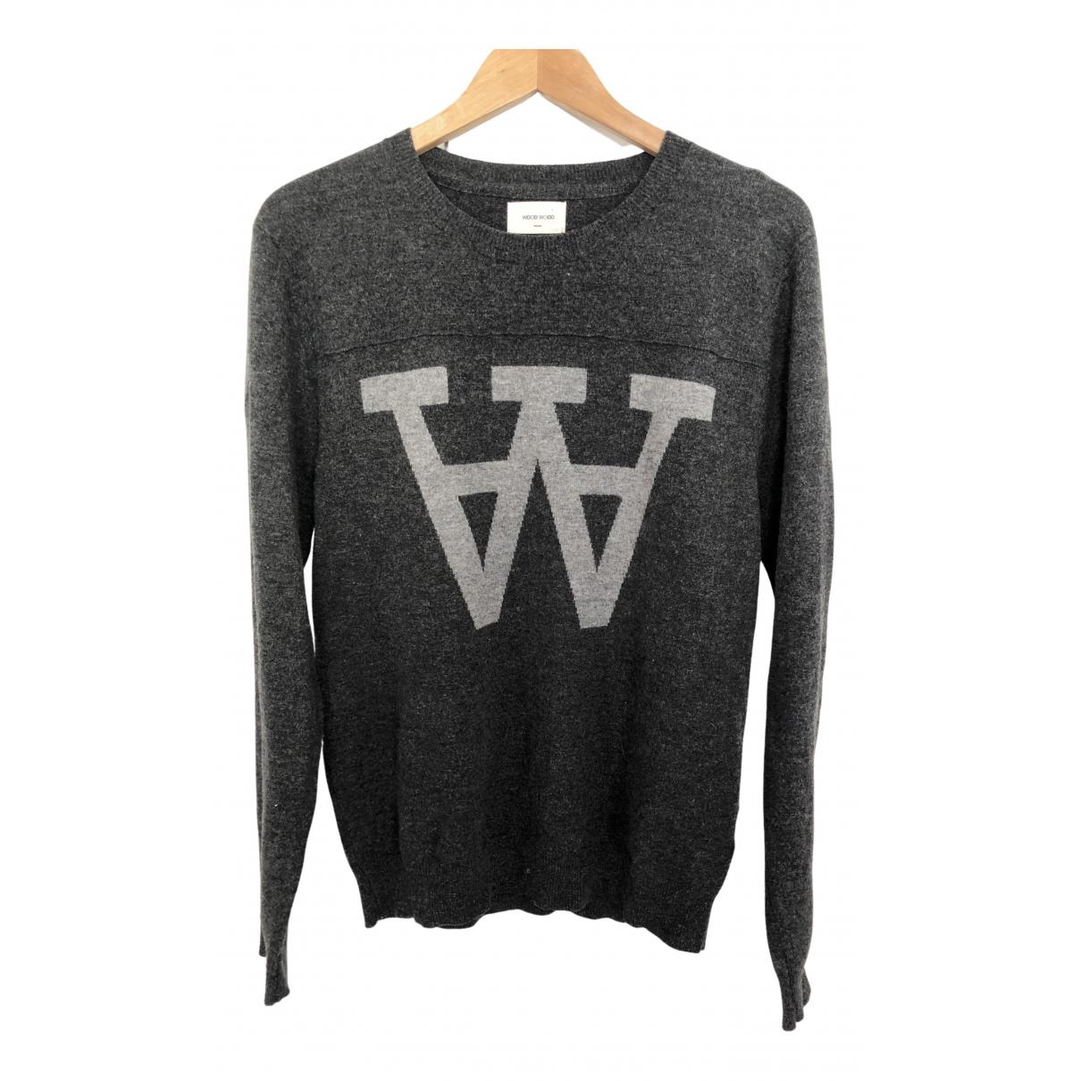 Wood Wood - Pull   pour femme en laine - gris
