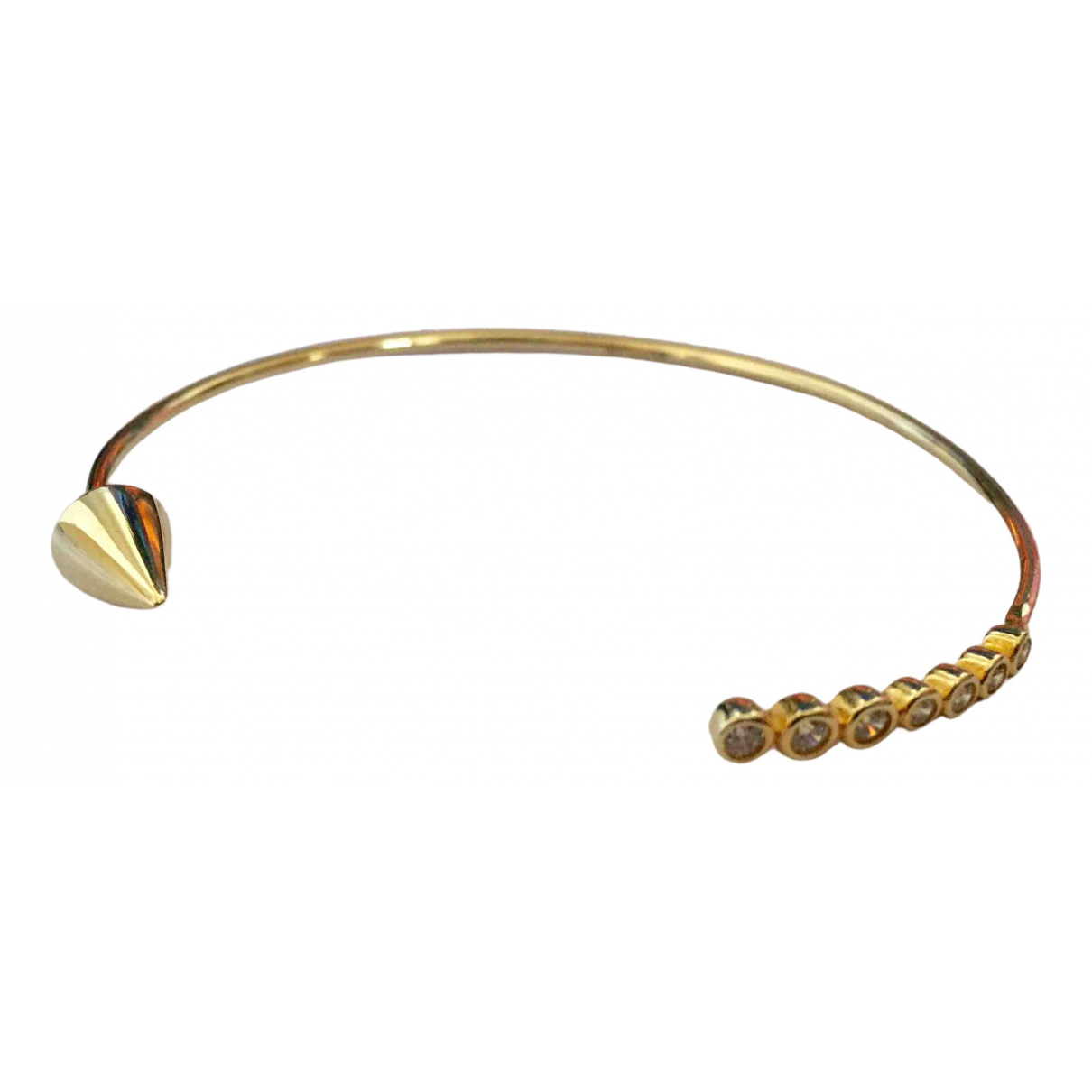 Non Signé / Unsigned N Gold Silver bracelet for Women N