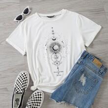 Camisetas de Tallas grandes Galaxia Casual
