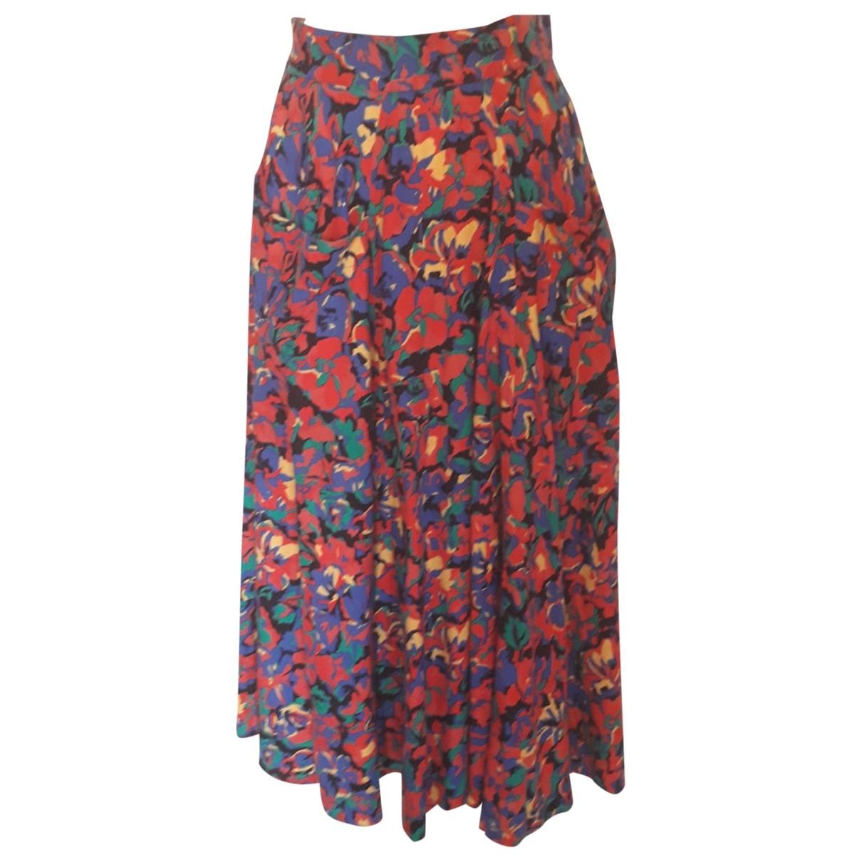 - Jupe   pour femme en coton - multicolore