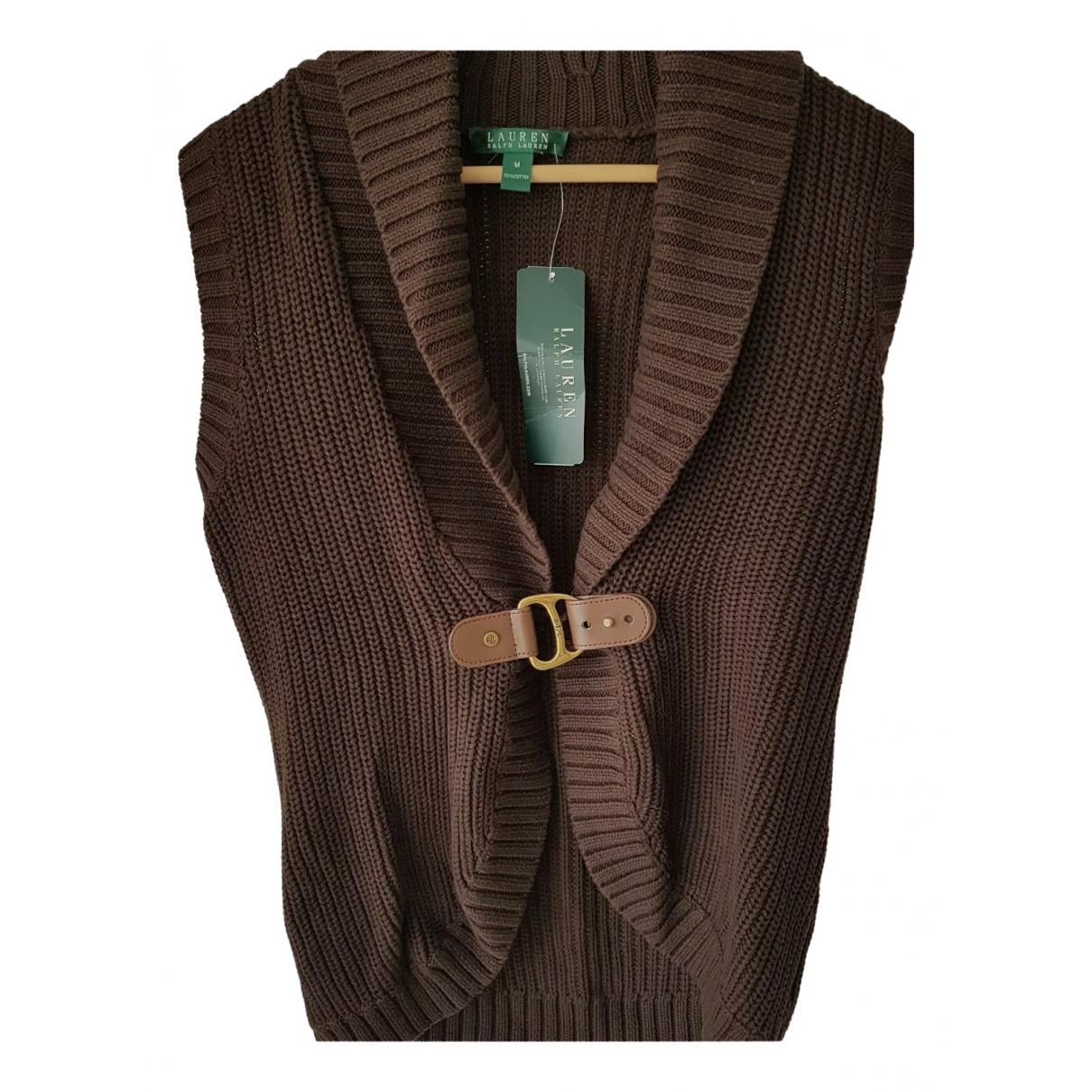 Lauren Ralph Lauren - Pull   pour femme en coton - marron