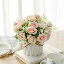 1branch Artificial Flower With 10pcs Head Without Vase