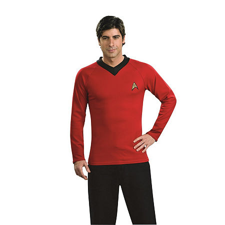 Star Trek Mens Deluxe Scotty Dress Up Costume Costume, Large , Red