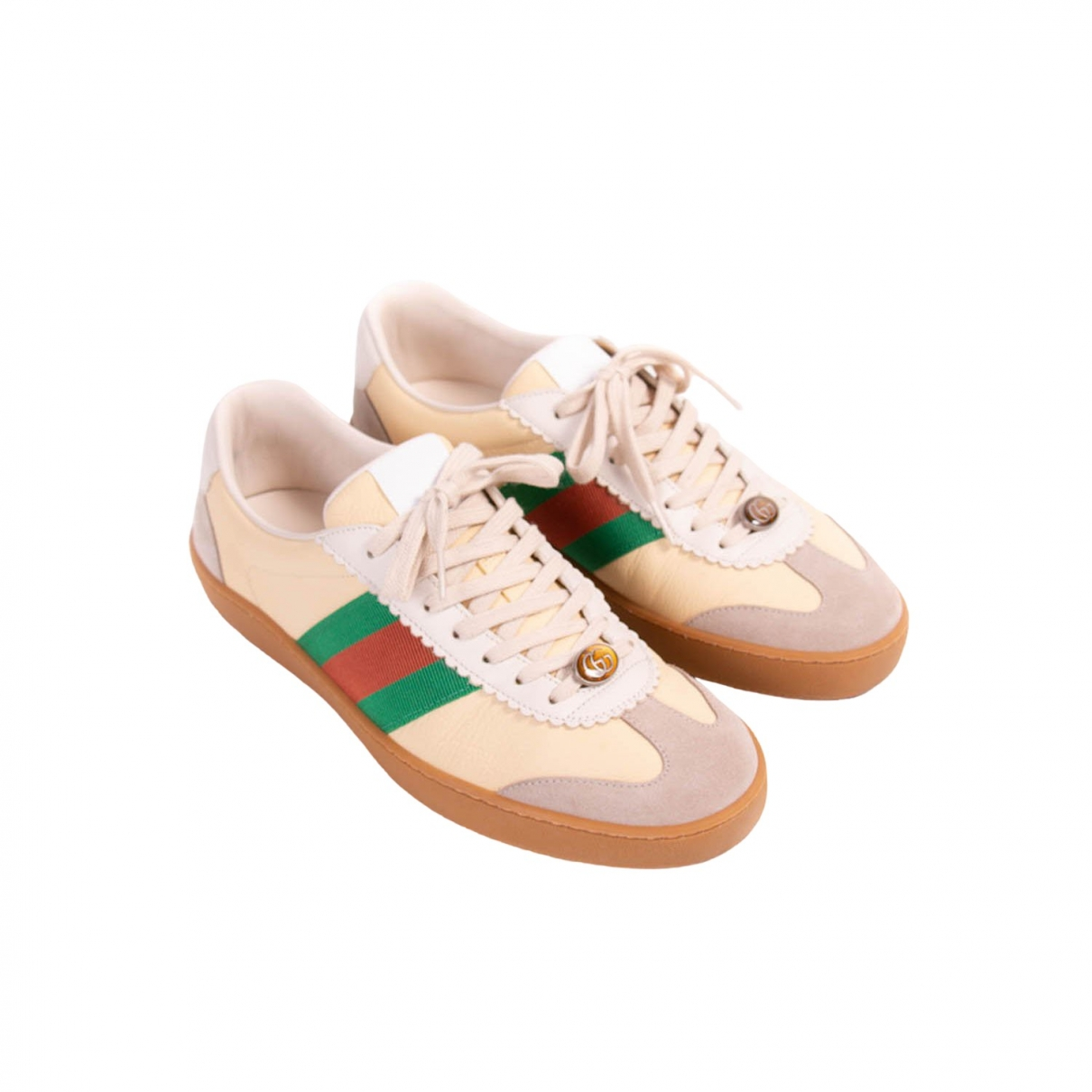 Gucci Ace Beige Leather Trainers for Men 40.5 EU