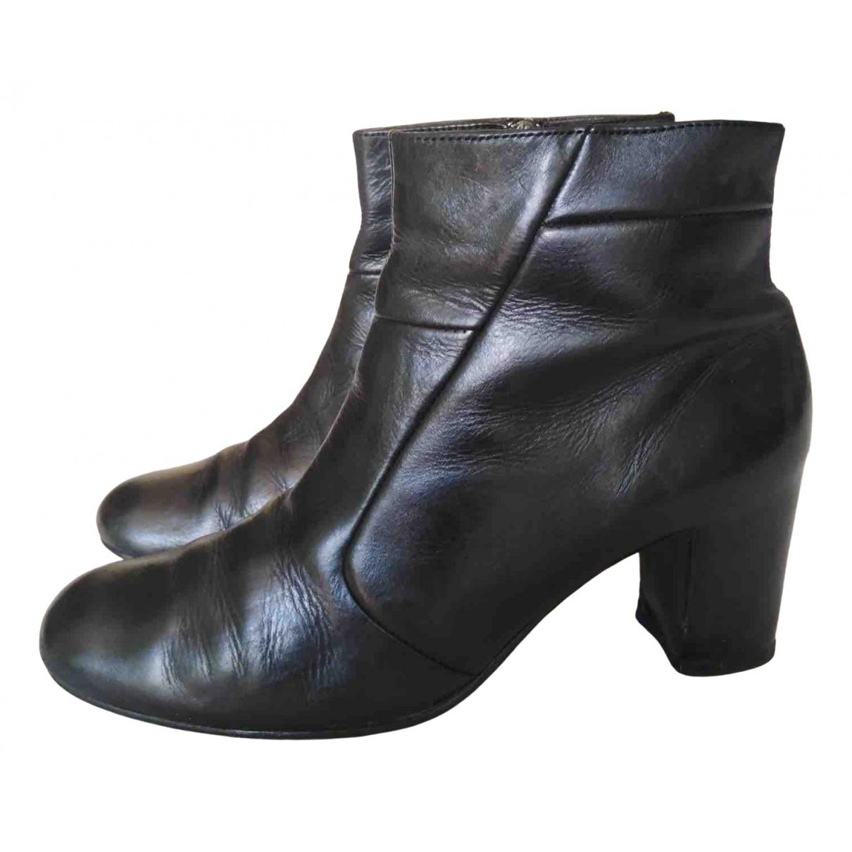 - Boots Hippie Chic pour femme en cuir - noir