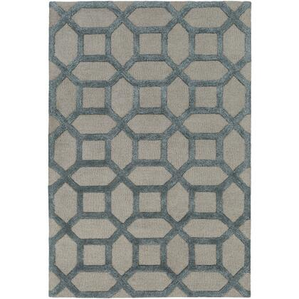 AWRS2128-811 8 x 11 Rug  in Medium Gray and Navy and Sky