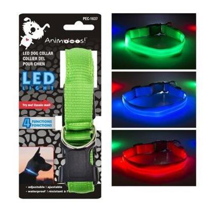LED Dog Collar with 3 Light, Settings Batteries Included, 1 Randomized Color Per Pack