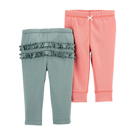 Carter's Little Baby Basic Baby Girls 2-pc. Skinny Pull-On Pants, 3 Months , Multiple Colors