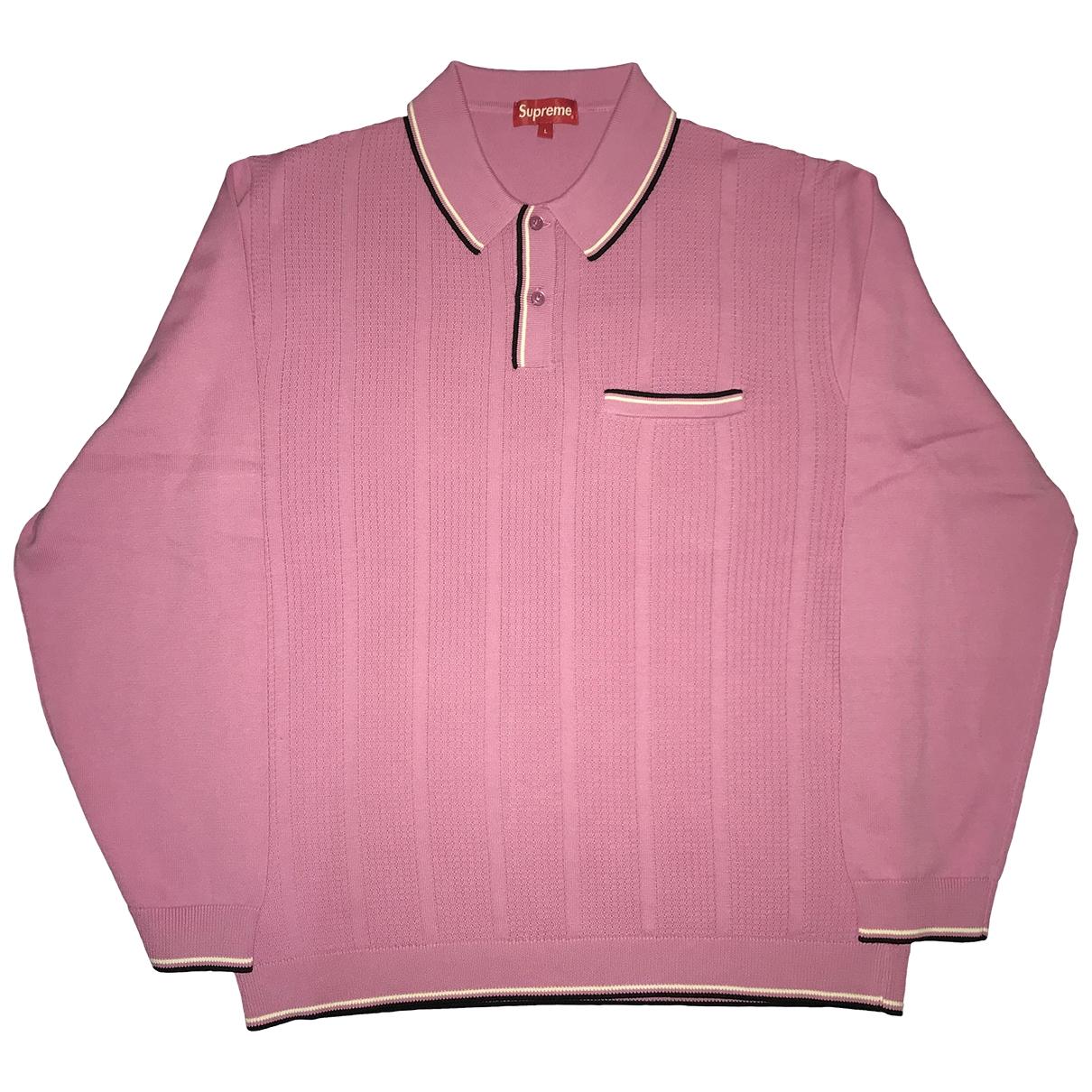 Supreme - Polos   pour homme en coton - rose